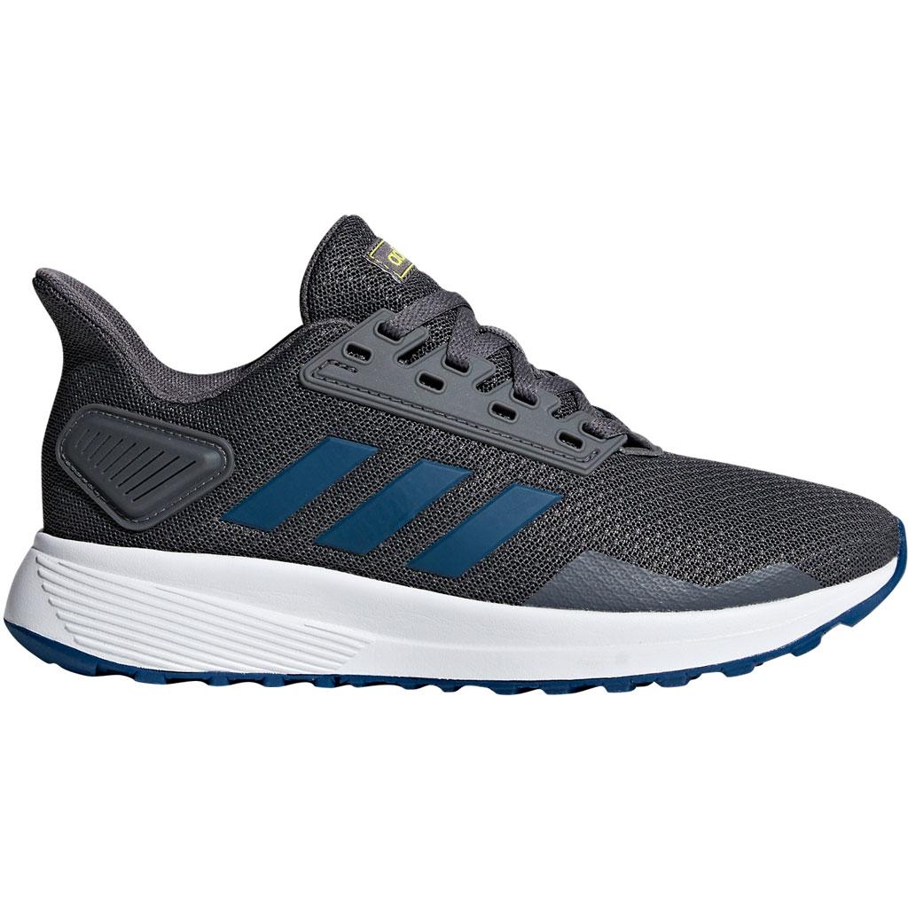 Adidas Duramo 9 Sportschuh Grey Five / Legend Marine / Shock Yellow Kinder