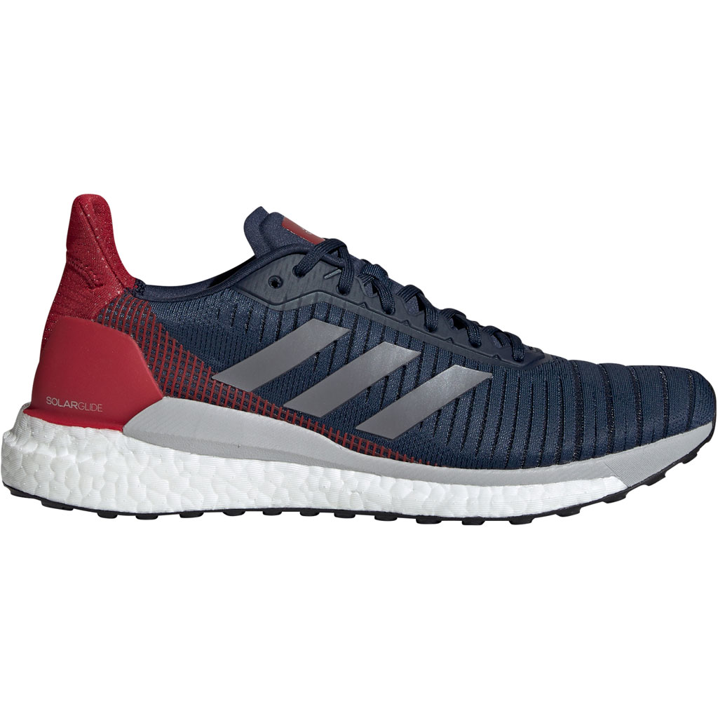 Adidas Solar Glide 19 Running Shoes Collegiate Navy Grey Five Active Maroon Men