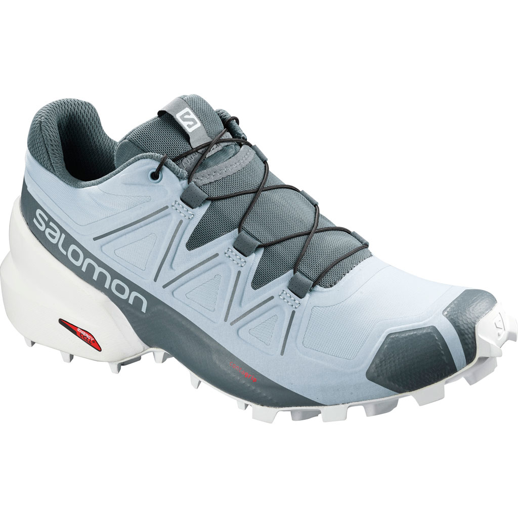 Salomon Speedcross 5 Running Shoes Cashmere Blue White Stormy Weather Women