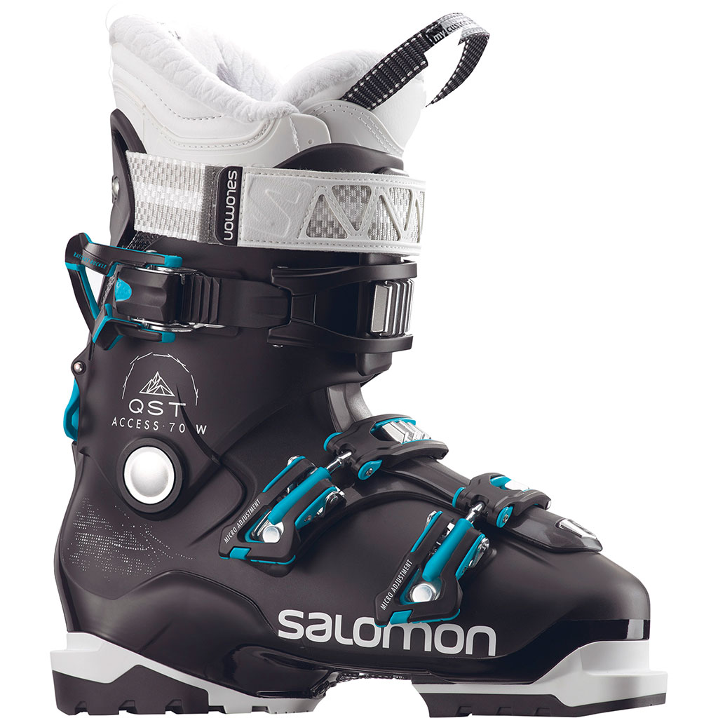 outlet brand new good Salomon QST Access 70 W Ski Boots Black / Anthracite Transluce / Aqua Blue  Women
