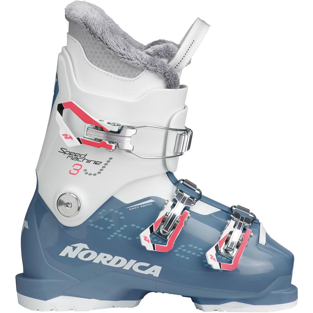 Nordica Speedmachine J3 Girl Skischuh Azure White Kinder