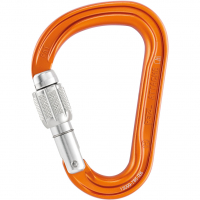 Attache Screw Lock  Carabiner Orange