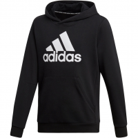 740e46deaceb63 Adidas YB Must Have Badge of Sports Hoodie Black / White Kinder