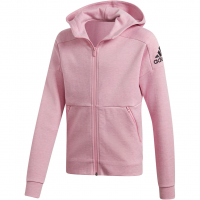 6dfb5efe522d60 Adidas ID Stadium Hooded Trainings Hoodie True Pink / Grey Six / Black  Kinder