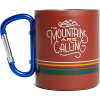 Mountains Are Calling 10 oz. Carabiner  Cup Rust