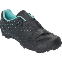 MTB Comp BOA  Bike Shoes Matt Black / Turquoise Blue Women