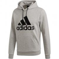 59236dca1dfe54 Adidas Must Have Badge of Sport Hoodie Medium Grey Heather / Black Herren