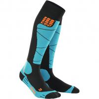 Ski Merino  Skisocken Black / Azur Damen