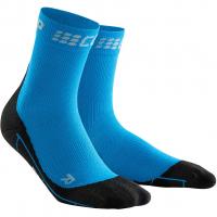 Winter Run Short  Socken Electric Blue / Black Herren