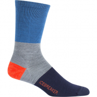 Lifestyle Crew Rugby Stripe  Socken Sea Blue / Twister HTHR / Midnight Navy Herren