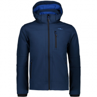 Zip Hood  Softshell Jacket Inchiostro Men