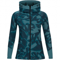 aa16486c63c2 Peak Performance Rider Print Zip Hood Fleece Jacket Aquaterm Pattern Women