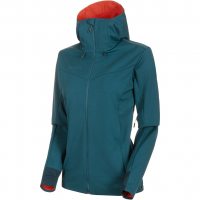 Ultimate V Hooded  Softshelljacke Wing Teal Pepper Damen