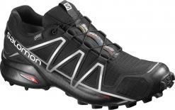 Salomon Speedcross 4 GTX®  Runningschuh Black/Silver Metallic-X Herren