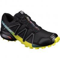 Salomon Speedcross 4  Runningschuh Black/Everglade/Sulphur Spring Herren