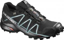 Salomon Speedcross 4 GTX®  Runningschuh Black/Metallic Bubble Blue Damen