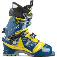 Scarpa T2 Eco   Telemarkschuh True Blue/Acid Green Herren