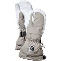 Hestra Heli Ski Female 3-Finger  Gloves Khaki/Offwhite Women
