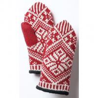 Hestra Nordic Wool Mitt  Fausthandschuh Red/Offwhite Damen