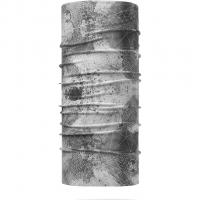 Buff Merino Wool Light  Neckwarmer Grey Stripes