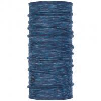 Buff Merino Wool   Neckwarmer Seaport Blue Stripes
