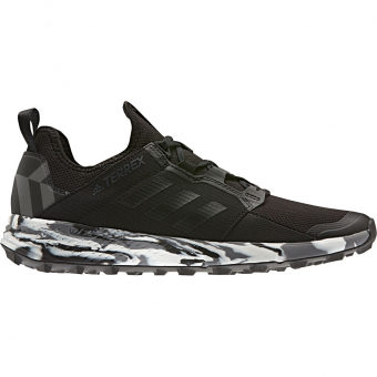 Adidas Terrex Agravic Speed LD   Runningschuh Core Black / Non-Dyed / Carbon Herren