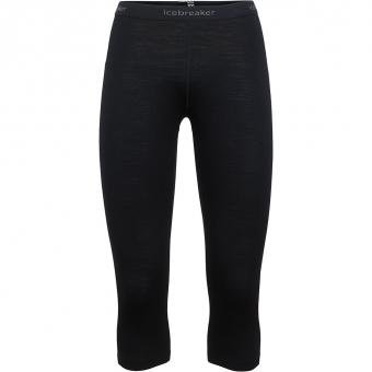 Icebreaker Oasis 3/4  Baselayer Pants Black Women