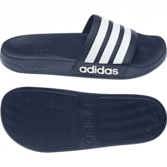 Adidas Cloudfoam  Adilette Collegiate Navy/FTWR White Men
