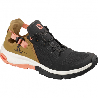 Salomon Techamphibian 4  Freizeitschuh Black / Bistr / Tawny Orange Damen
