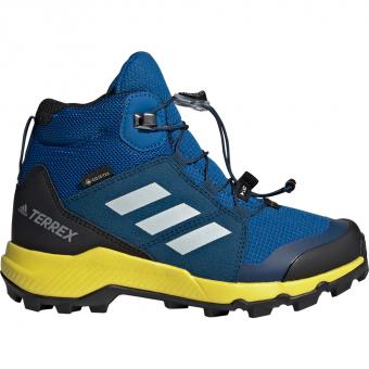 Adidas Terrex Mid GTX® Wander und Trekkingschuh Blue Beauty Grey One Shock Yellow Kinder