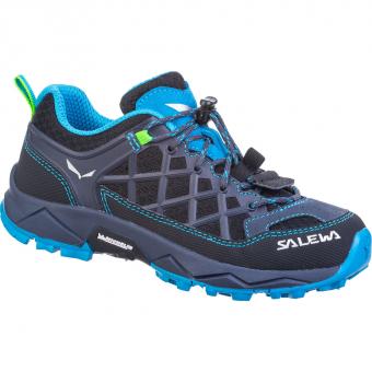 Salewa Wildfire Junior Wanderschuh Ombre Blue Fluo Green Kinder