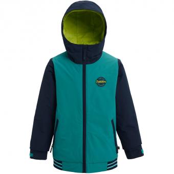 Burton Game Day  Snowboard Jacket Green-Blue Slate / Dress Blue Kids