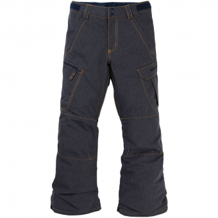Burton Exile Cargo  Snowboard Pants Denim Kids