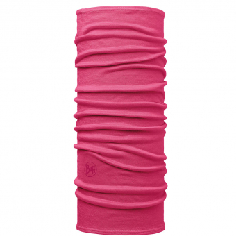Buff Lightweight Merino Wool Tubular  Neckwarmer Solid Wild Pink Kinder