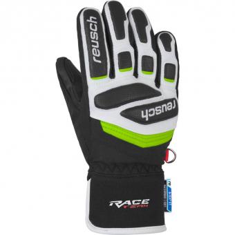 Reusch Prime Race R-Tex XT Junior  Fingerhandschuh Black / White / Neon Green Kinder
