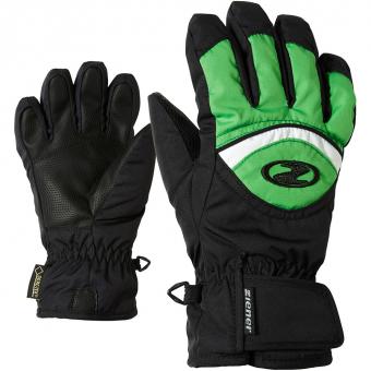 Ziener Largo GTX®  Fingerhandschuh Black / Signal Green Kinder