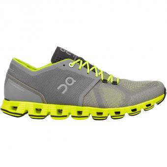 ON Cloud X  Running Shoes Grey / Neon Men