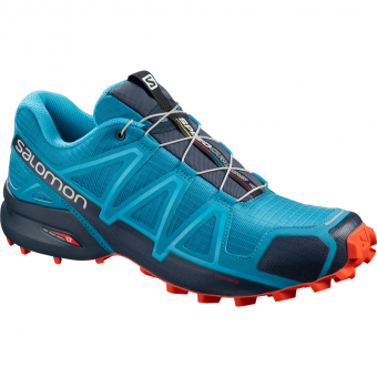 Salomon Speedcross 4   Runningschuh Fjord Blue / Navy / Blazer Herren