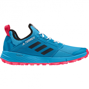 Adidas Terrex Agravic Speed LD Runningschuh Shock Cyan Core Black Active Pink Damen