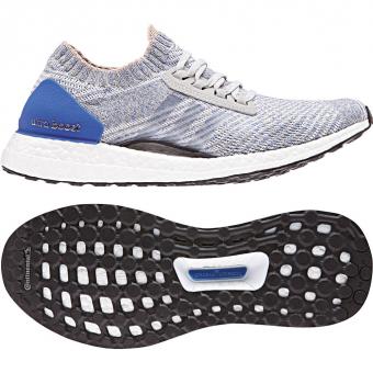 Adidas Ultra Boost X  Runningschuh Grey / White / Blue Damen