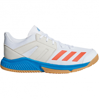 grossiste dae6b 309ee Adidas Stabil Essence Indoor Sport Shoes Ftwr White / Solar Red / Bright  Blue Women