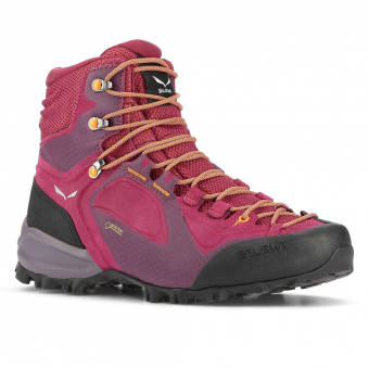 Salewa Alpenviolet Mid GTX®  Trekking- Hikingboots Red Plum / Orange Popsicle Women