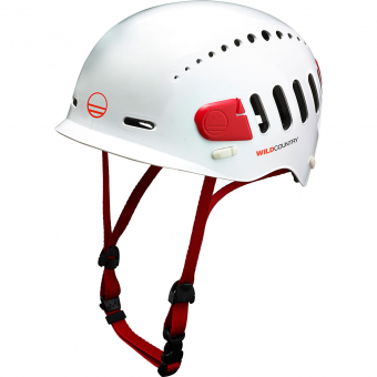 Wild Country Fusion  Kletterhelm White/Red