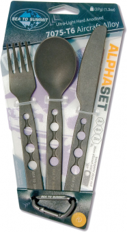Sea To Summit Alpha Cutlery Set  Besteck Black