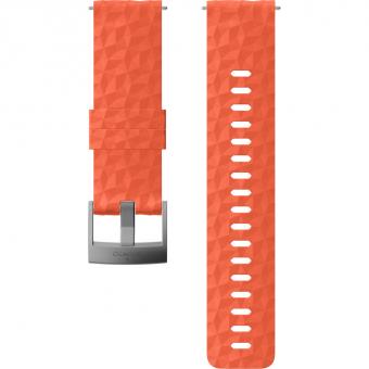 Suunto 24mm Explore 1 Silikonarmband für  Sportuhr Coral Gray