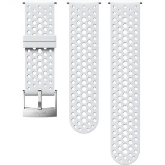 Suunto 24mm Athletic 1 Silicone Strap für  Sportuhr White / Steel