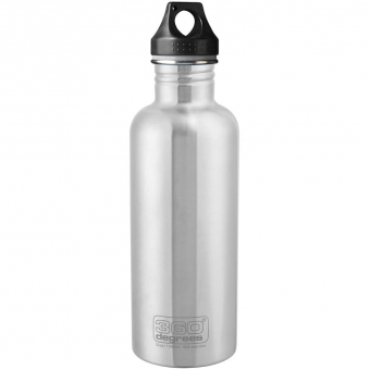 360° degrees Stainless Steal 1,0L  Bottle Silver