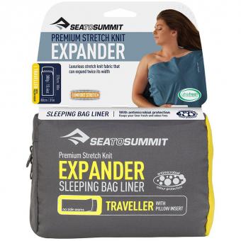 Sea To Summit Expander Liner Traveller mit Pillow Insert  Hüttenschlafsack Navy