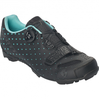 Scott MTB Comp BOA  Bike Shoes Matt Black / Turquoise Blue Women