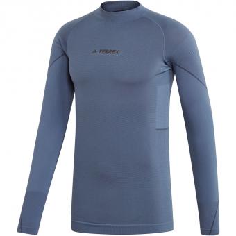 Adidas Primeknit Baselayer  Langarmshirt Tech Ink Herren